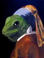 Lizard with the Pearl Earring by Nocturiah
