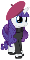Rarity's Beatnik Look by Derpy-Maple