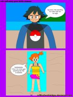 Ash And Misty Goes Tickle Summer by scottytheshieldguy