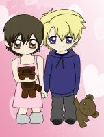 Tamaki and Haruhi chibis by and-thats-how-i-roll