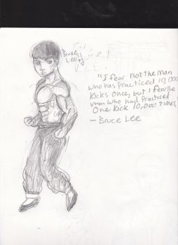 BRUCE LEE:) by Msbubblely