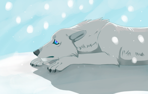 Wolf In The Snow by Otome-Subversiva