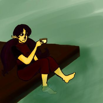Maddy at Sea with Tea by Tenjilover