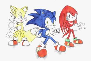 Team Sonic by TempestMoonXx