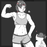 Muscular mommy Karai... by ashitarimai