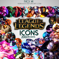 200 Icons - League of Legends by AliceeMad