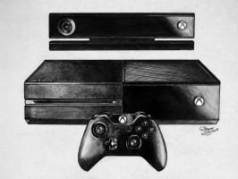 Xbox One Drawing by LethalChris