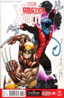 Nightcrawler and Wolverine by ToddNauck