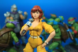 TMNT Classic April O'Neil Figure by hugohugo