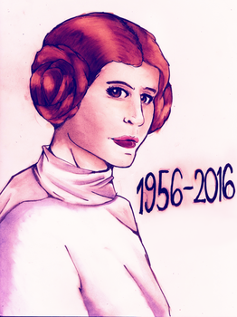 In memory of Carrie Fisher by WinterGlace