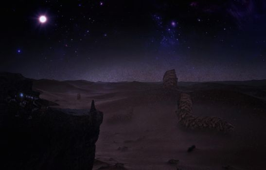 Arrakis at night, worms unleashed. by MrTinyx