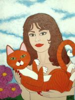 Bliss - Girl with Kitty Cat by Soniafm1027