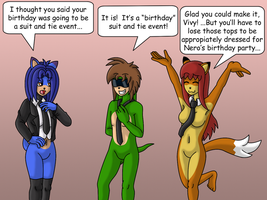 Nero's 'Suit' and Tie Birthday Party by gameboysage