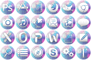 Galaxy 1 Application Icon Set by iconlaura