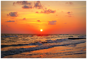 Clearwater Beach Sunset - 000123 by TranquilSkyGallery