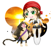 PC- Kaylee and little humandrill by WataruAvril