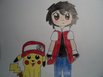 Chibi- Pokemon Trainer Red by BubbleIce720