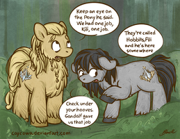 MLP/Hobbit - Fili and Kili by caycowa