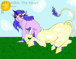 Centaur Leaning Foward by Faith-Bailey