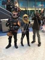 Deathstroke, Black Canary, and Arrow (FanExpo Vanc by GingerBaribuu