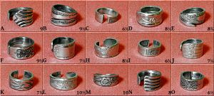 15 stainless cutlery rings by Dragonsmithy