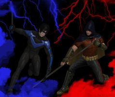 Grayson vs Tim Drake by dnxpunk