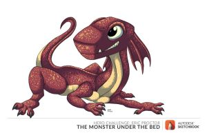 Frillo The Monster under the bed by megadrivesonic