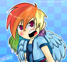 Rainbow Dash Tsundere by IruNekagi