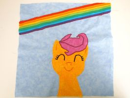Scootaloo quilt square by greepix