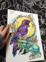 Amethyst Starling by Xenija88