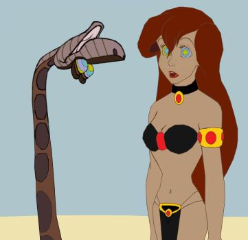 Slave Ariel and Kaa: Is Your World Topsy-Turvey? by hypnotica2002