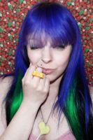 Color girl DIY cute bow ring by cherrybomb-81