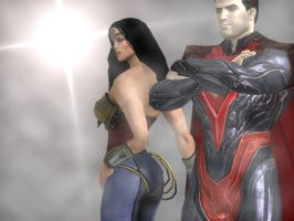 Superman And Wonder Woman by corporacion08