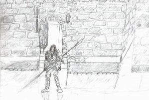 paladin outside of pub by D3vilKill3r23