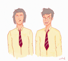 James and Sirius by deimlacquer