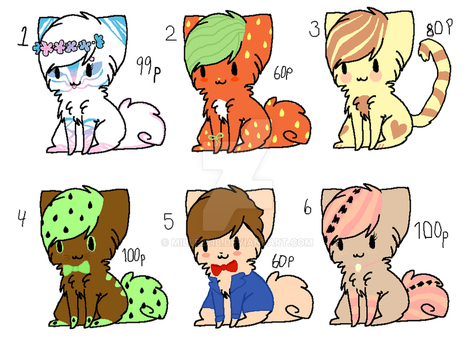 ADOPTABLES kittens by Mille221B