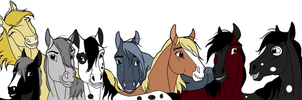 Horsie Adoptables 1- CLOSED by Coyotalia