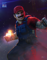 Super Smash Bros: Remixed  - Mario Fireball! by andrewdoma