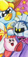 kirby watercolor 1 by Evanatt