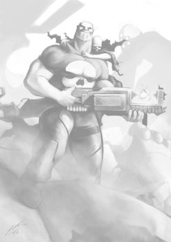 Thanos as Punisher by JHUBS