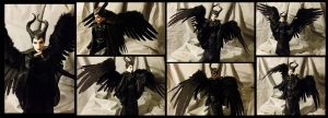 Winged Maleficent Art Doll - SALE by SBGothik