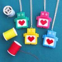Robot Necklace by fairy-cakes