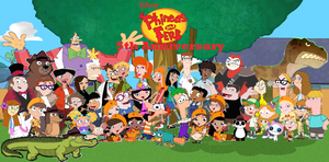 Phineas and Ferb 5th Anniversary by DisneyDude-94
