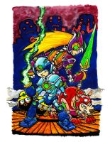 Megaman Tribute by Clone-Artist