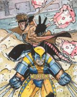 X-men Wolverine AP sketchcard by Csyeung