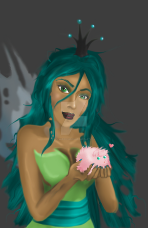 Chrysalis and Fluffle Puff (Humanisation) by Wilvarin-Liadon