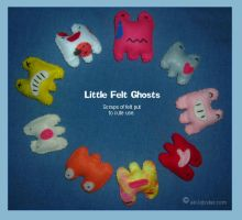 Little Felt Ghosts, 1 by airlobster
