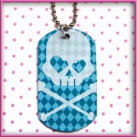 Preppy Punk Dog Tag Necklace by SugarAndSpiceDIY
