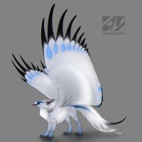 Dragon design: Bali mynah by AverrisVis