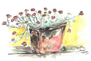 flower pot by pnna